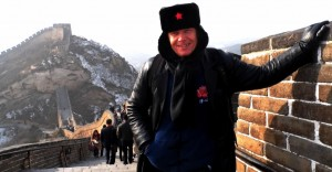 Simon Higgins at the Great Wall of China